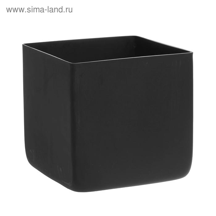 """Ваза """"Чёрный куб"""" матовая"""