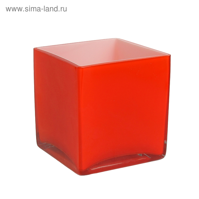 "Ваза ""Куб"" оранжевая"