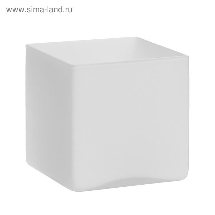 "Ваза ""Белый куб"" матовая"