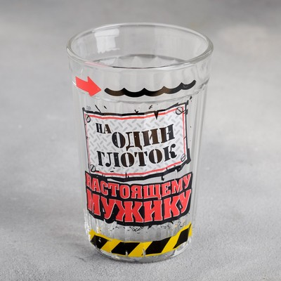 "Стакан граненый ""На один глоток"", 250 мл"