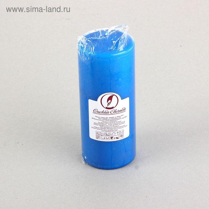 Свеча классическая 7х17 см, синяя