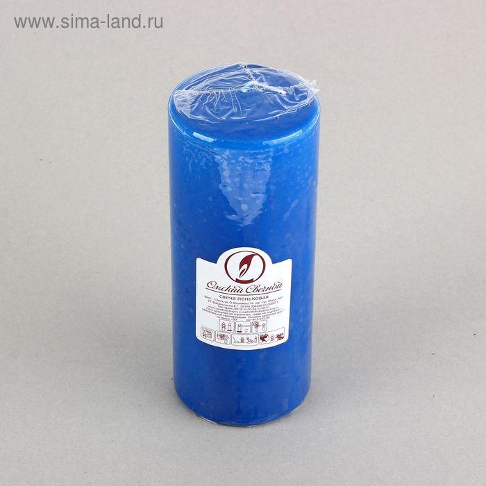 Свеча классическая 8х20 см, синяя