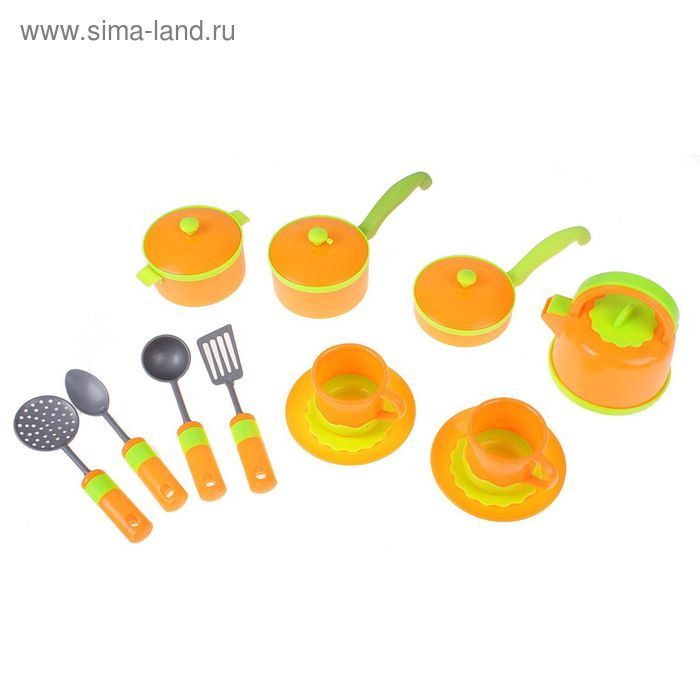 """Набор посуды """"Оранжевое настроение"""", 12 предметов, в пакете"""
