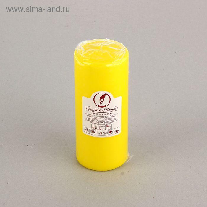 Свеча классическая 7х17 см, желтая