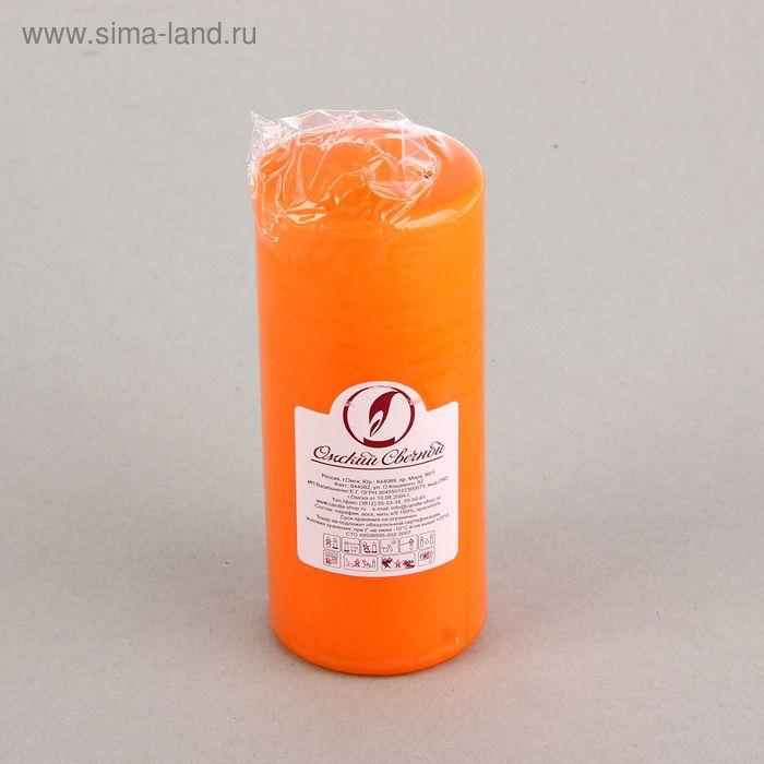 Свеча классическая 7х17 см, оранжевая