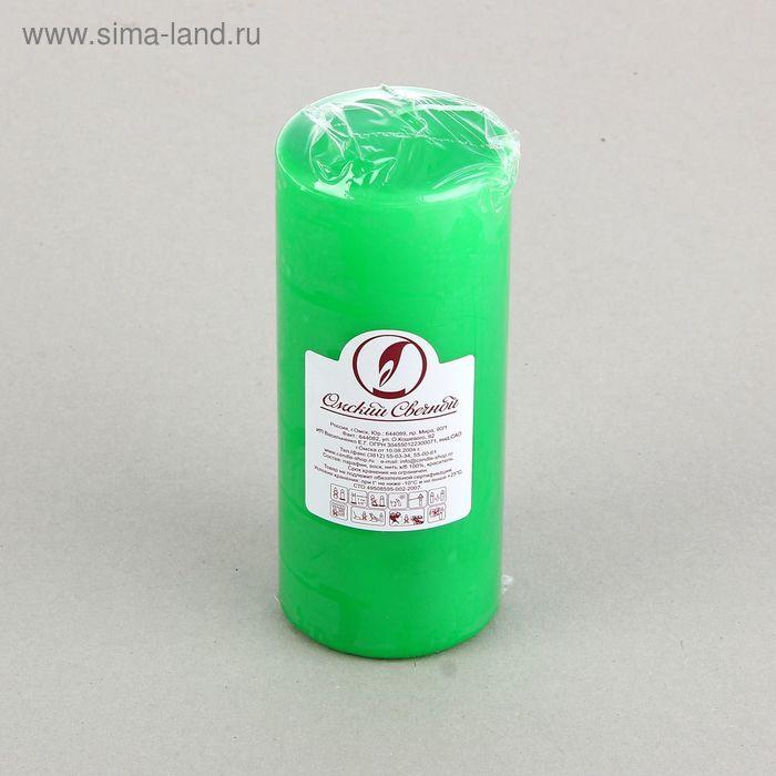 Свеча классическая 7х17 см, зеленая