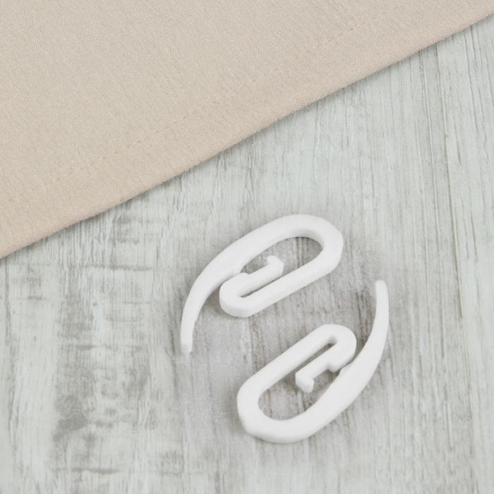 Крючок для штор «Улитка», 1,5 × 3 см, цвет белый
