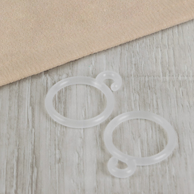 Кольцо для штор с крючком, d=35мм, цвет прозрачный Ош