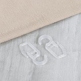 Крючок для штор, на кольцо, 36 × 15 мм, цвет прозрачный Ош