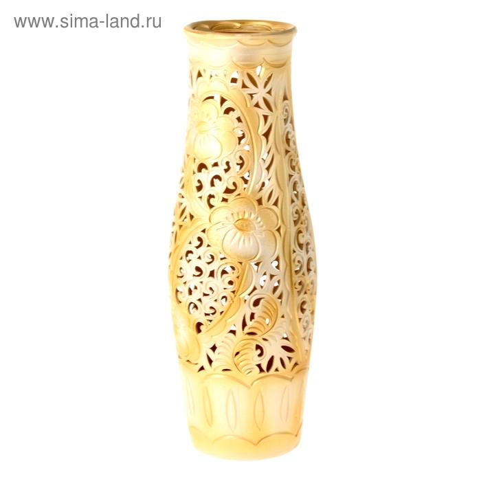 """Ваза напольная """"Афина"""" светлое золото"""