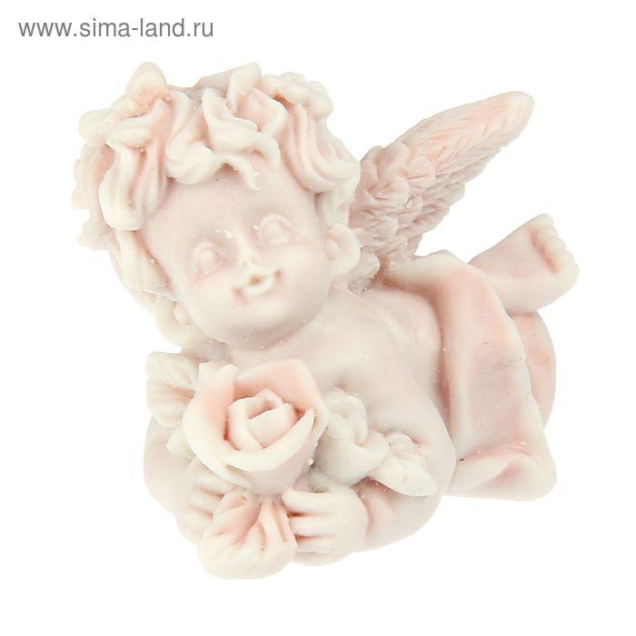 """Сувенир """"Ангел с розами лежащий"""""""