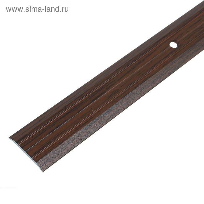 Порог одноуровневый 25 мм (90) дуб тёмный
