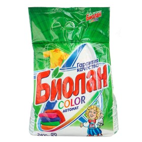 """Стиральный порошок """"Биолан"""" автомат Color, 2,4 кг"""