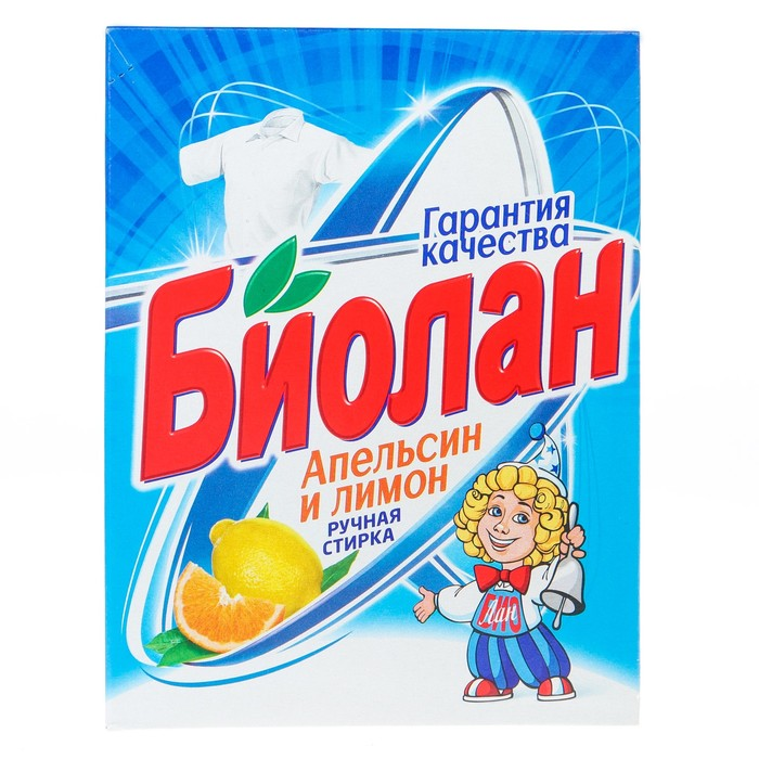"""Стиральный порошок """"Биолан"""" Апельсин и лимон т/у, 350 гр"""