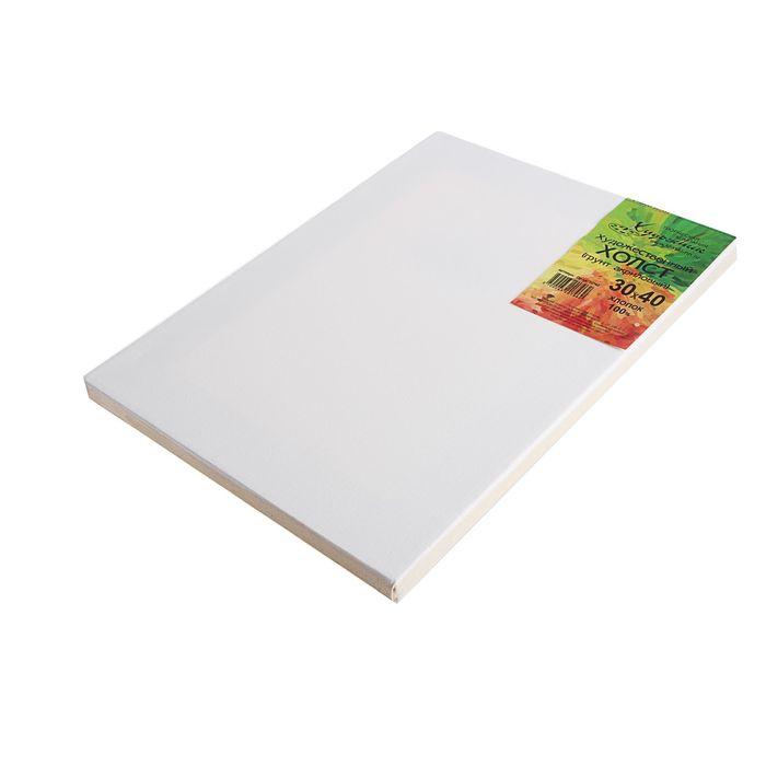 Холст на подрамнике хлопок 100% акриловый грунт 2*30*40 см мелкозернистый, 210г/м²