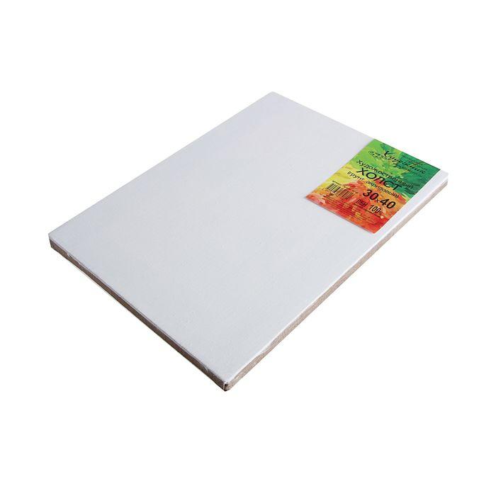 Холст на подрамнике лён 100% акриловый грунт 2*30*40 см мелкозернистый, 180 г/м²