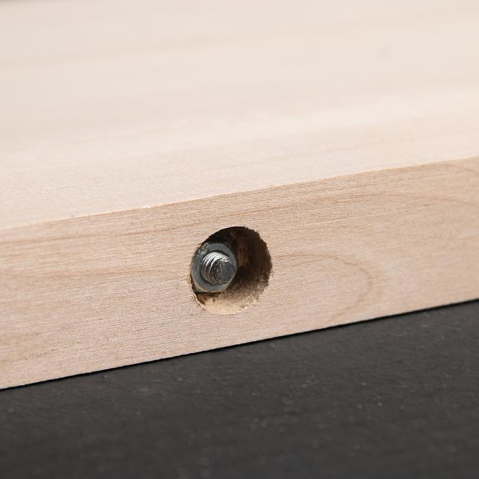 Доска разделочная с металлическими стяжками «Люкс», массив берёзы, 70×28×3 см
