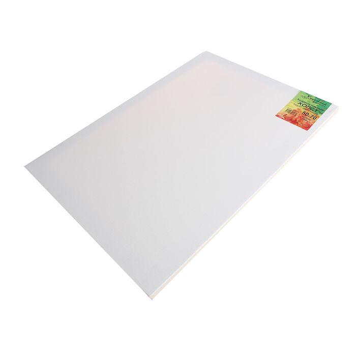 Холст на подрамнике хлопок 100% акриловый грунт 2*50*70 см мелкозернистый, 210г/м²