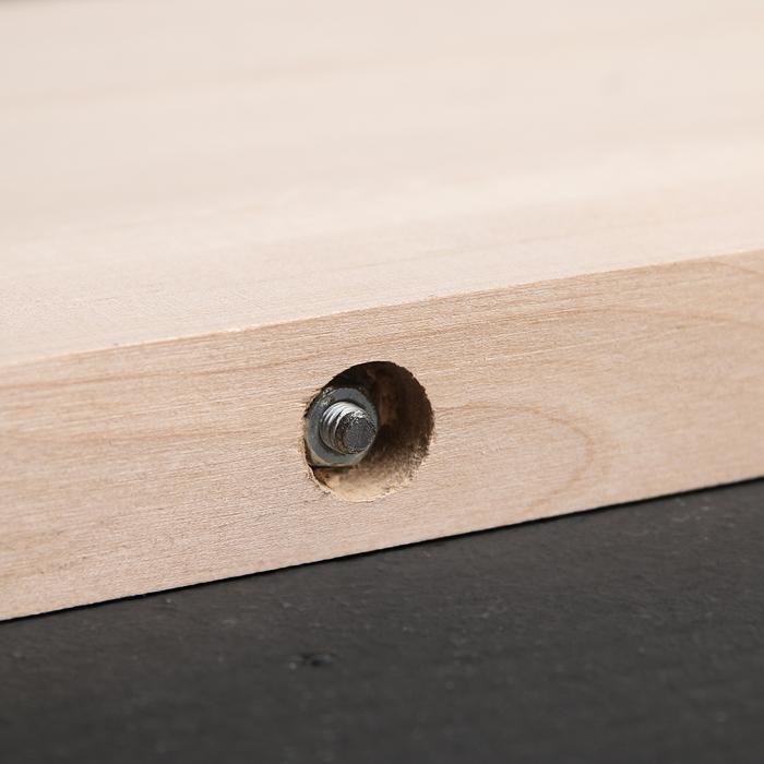 Доска разделочная с металлическими стяжками «Люкс», массив берёзы, 60×28×3 см