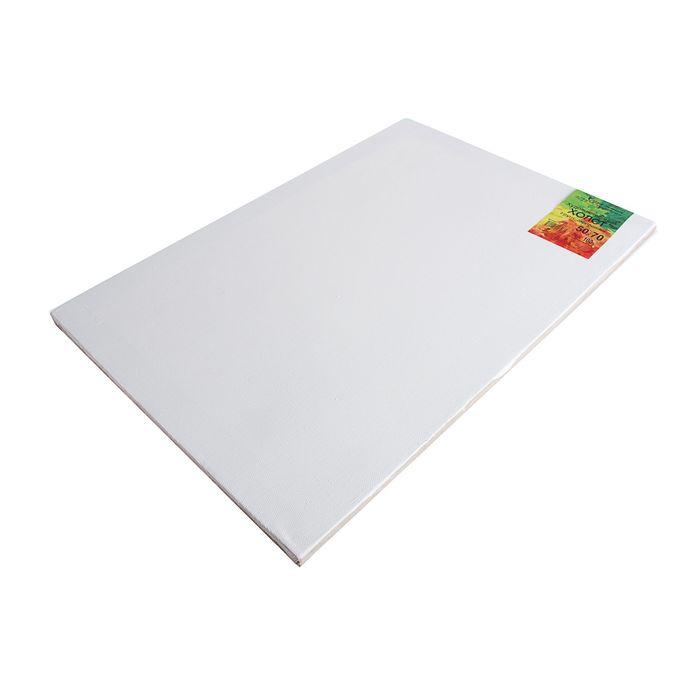 Холст на подрамнике лён 100% акриловый грунт 2*50*70 см крупнозернистый, 240 г/м²