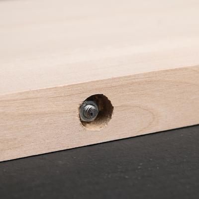 Доска разделочная «Люкс», с металлическими стяжками,массив берёзы, 40×28×3 см
