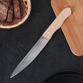 Нож кухонный «Гурман», универсальный, лезвие 17,5 см, деревянная рукоять