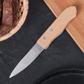 Нож для овощей «Гурман», лезвие 9 см, деревянная рукоять