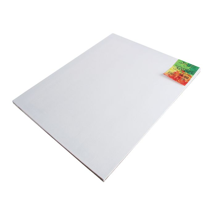Холст на подрамнике лён 100% акриловый грунт 2*50*60 см мелкозернистый, 180 г/м²