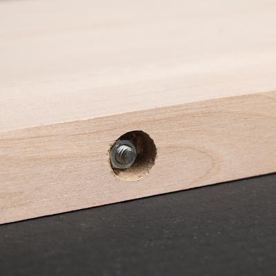 Доска разделочная «Люкс» с металлическими стяжками, массив берёзы, 50×28×3 см