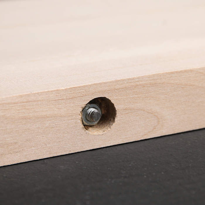 Доска разделочная с металлическими стяжками «Люкс», массив берёзы, 50×28×3 см