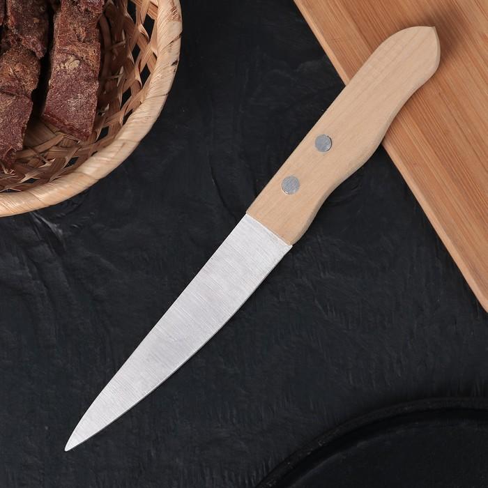 Нож для овощей «Гурман», лезвие 13,5 см, деревянная рукоять