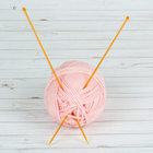Спицы для вязания, прямые, d=4мм, 35см, 2шт, цвет МИКС