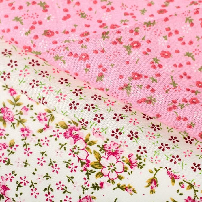 Набор ткани для пэчворка(3 шт.) «Мамина нежность», 30 х 40 см