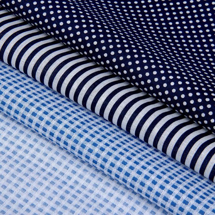 Набор ткани для пэчворка (3 шт) «Морской», 30 × 40 см