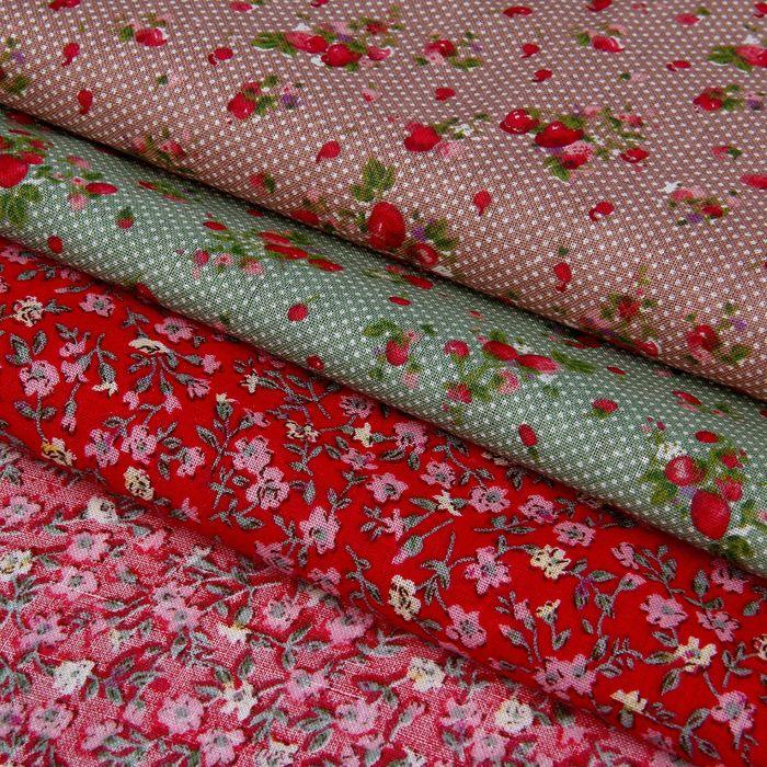 Набор ткани для пэчворка (3 шт) «Сладость лета», 30 × 40 см