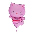 """Шар фольгированный 12"""" """"Котёнок"""" для палочки, цвет розовый"""