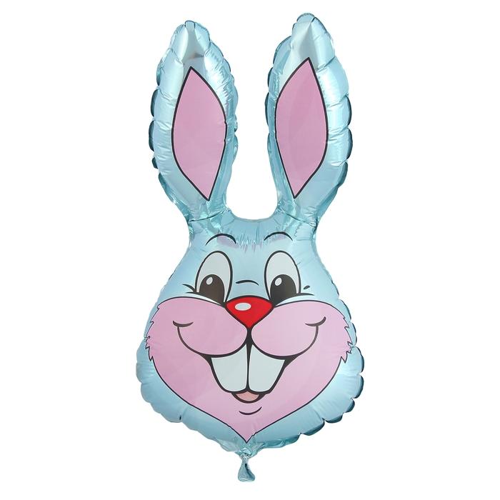 """Шар фольгированный 12"""" """"Кролик"""" для палочки, цвет серый - фото 131598175"""