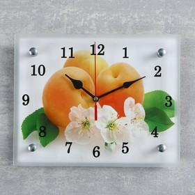"""Часы настенные, серия: Кухня, """"Абрикосы с цветами"""", 20х25  см, микс"""