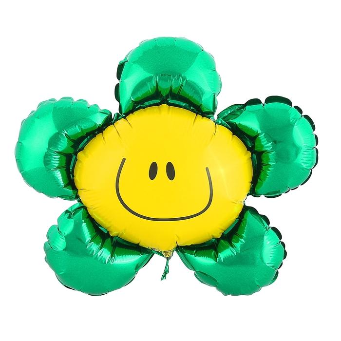 """Шар фольгированный 12"""" """"Цветок"""" для палочки, цвет зелёный"""