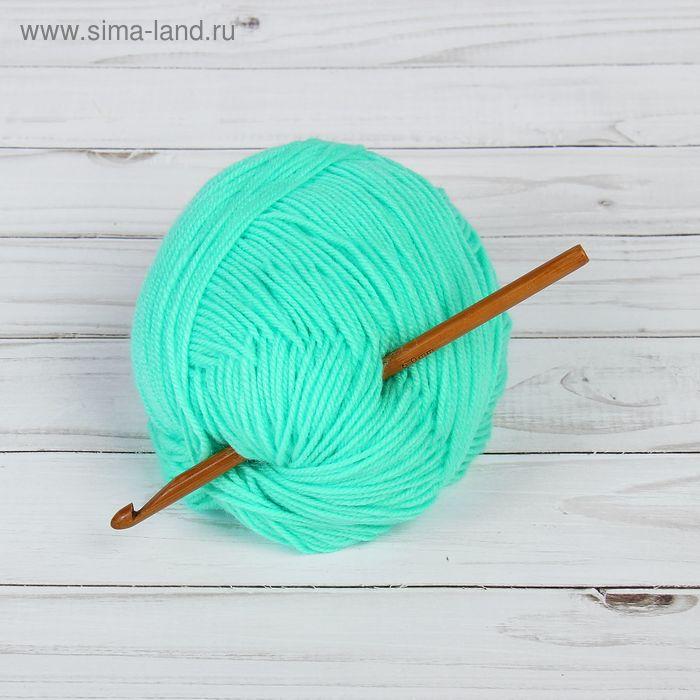 Крючок для вязания бамбуковый, d=6мм, 15см