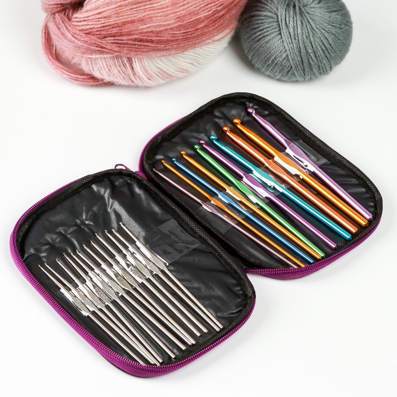 набор крючков для вязания D 06 65 мм 1318 см 22 шт цвет