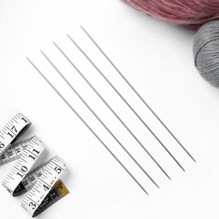 Спицы для вязания чулочные, d = 2 мм, 25 см, 5 шт