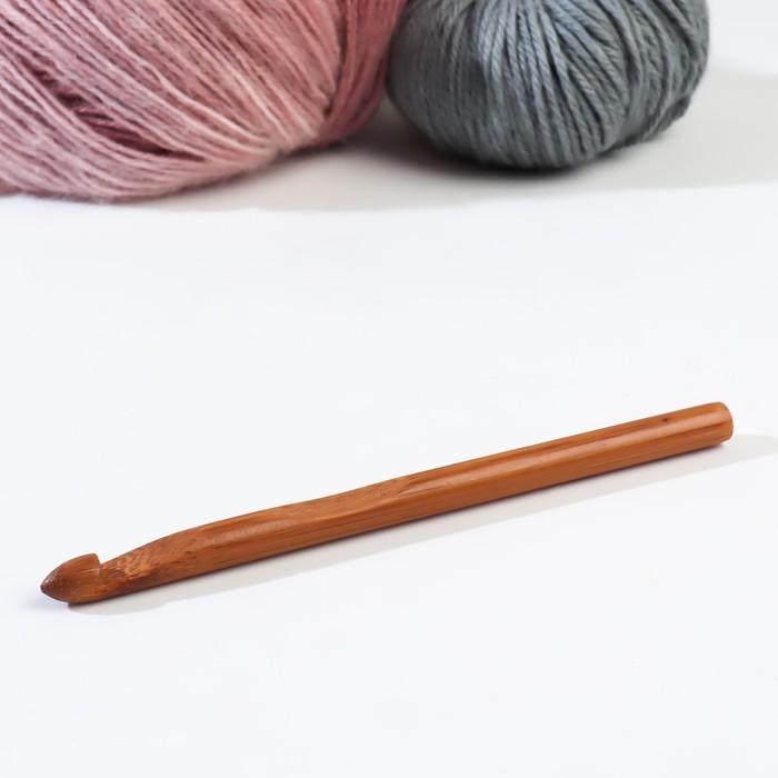 Крючок для вязания бамбуковый, d=9мм, 15см