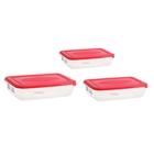 Набор контейнеров пищевых Polar, 3 шт: 450 мл; 900 мл; 1,9 л, цвет МИКС