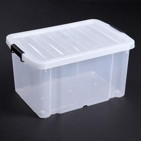 Контейнер для хранения с крышкой Basic Type, 60 л, 60×40×32 см, крышка МИКС