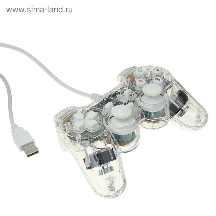Геймпад Dialog Action GP-A11EL, виброэффект, подсветка, 12 кнопок, USB