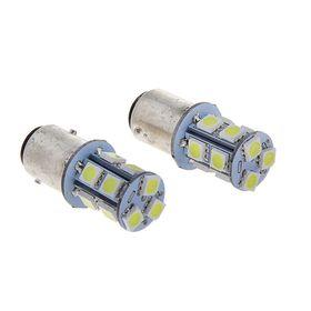 Комплект светодиодных лам, TORSO P21/5W, 12 В, 13 SMD-5050, 2 шт., свет белый