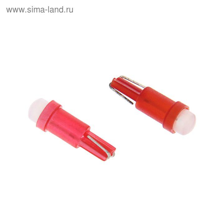 Комплект светодиодных ламп TORSO Т5, панель приб., 12 В, б/цок, 1 LED-COB, 10шт., свет крас.