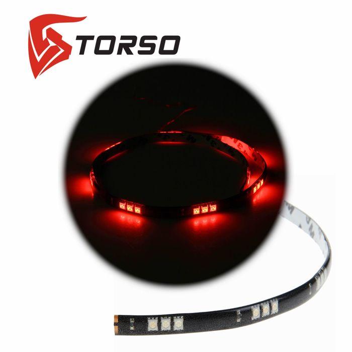 Светодиодная линейка TORSO, 30LED-SMD5050, 60 см, 12 В, IP65, 7.2 Вт, свет красный