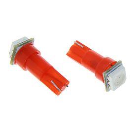 Комплект светодиодных ламп TORSO Т5, панель приб., 12 В, б/цок, 1 SMD-5050, 10шт., свет кра.